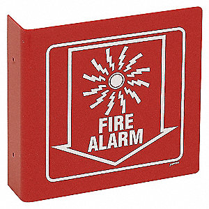 SIGN L STYLE FIRE ALARM 8X8