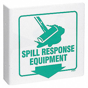 SIGN L STYLE SPILL RESPONSE 8X8