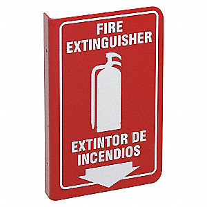 SIGN L STYLE BILINGUAL FIRE EXT 11X