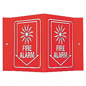 SIGN V STYLE FIRE ALARM 6X9