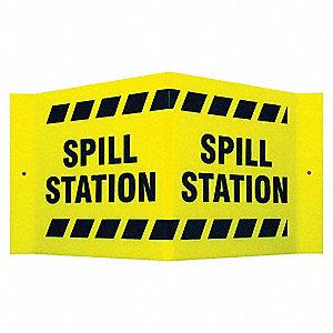 SIGN V STYLE SPILL STATION 8X15