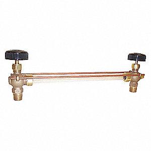WATER GAUGE,PIPE SIZE 1/2 IN,MNPT