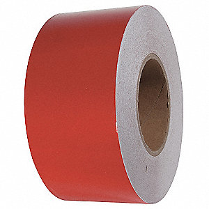 "Reflective Marking Tape, Solid, Roll, 3"" x 150 ft., 1 EA"