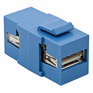 Keystone Jack, Blue, Plastic, Series: iSTATION, Cable Type: USB 2.0 A