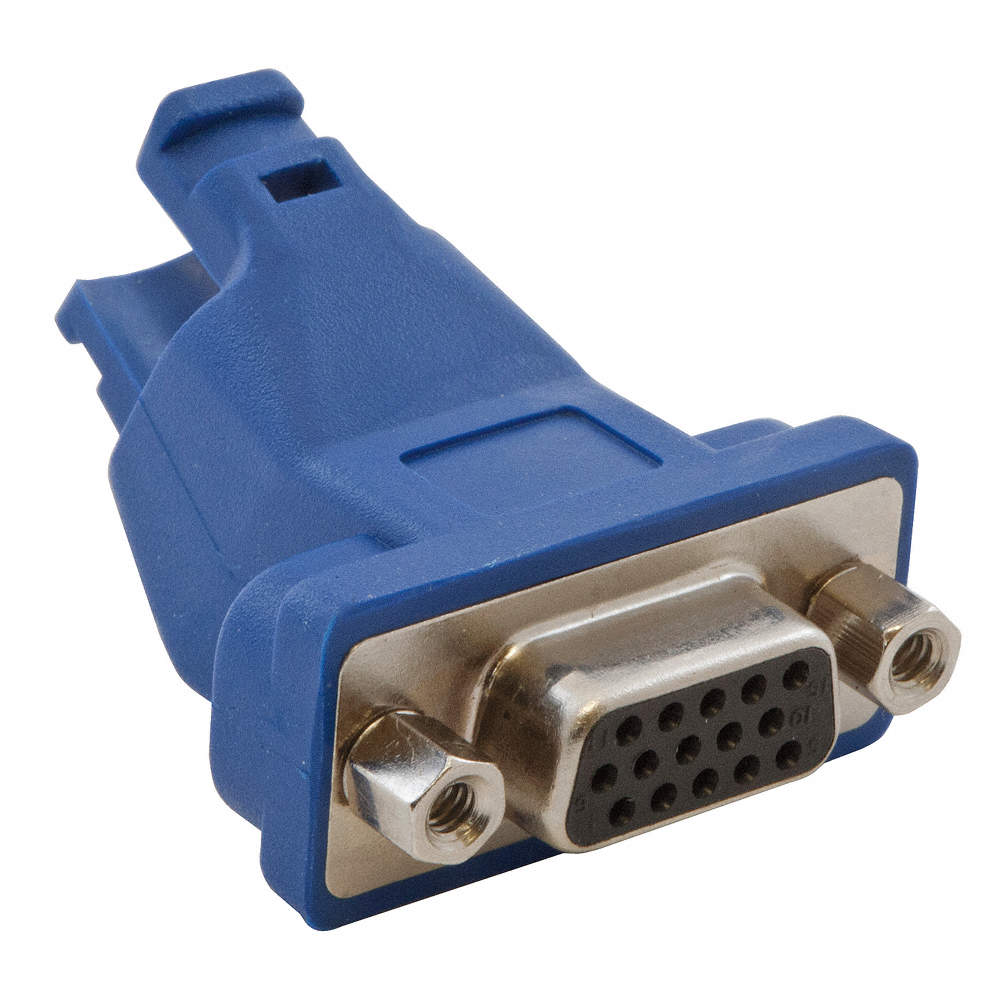 HUBBELL PREMISE WIRING 2-Port VGA Trunk Cable Adapter, Blue - 15D954 ...