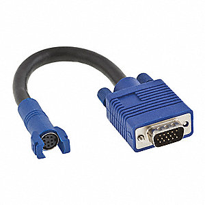 2-Port VGA Trunk Cable Adapter, Blue