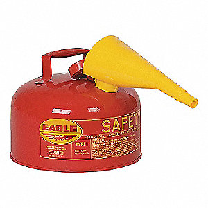 CAN SAFETY 2 GAL METAL RED W/F-15