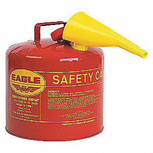 CAN SAFETY 5 GAL METAL RED W/F-15