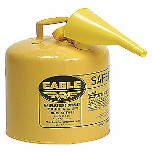 CAN SAFETY 5 GAL YELLOW W/F-15 DIES