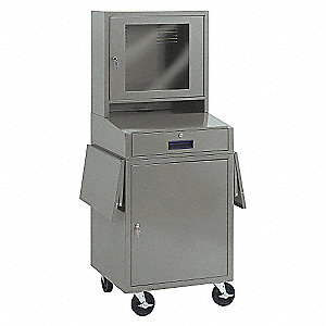 COMPUTER CABINET 24 1/2IN WIDE