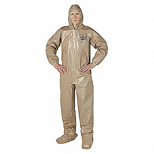 COVERALL ZIP FRT WITH HOOD AND BOOT