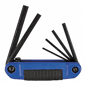 HEX KEY SET FOLDNG ERGO METRIC 6 PC