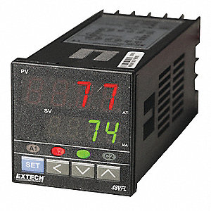 Temperature Controller, 1/16 DIN Size, 1 to 5VDC Input Voltage, Switch Function: SPST NO