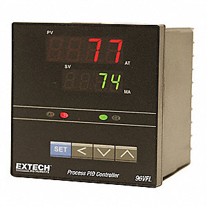 Temperature Controller, 1/4 DIN Size, 1 to 5VDC Input Voltage, Switch Function: SPST NO