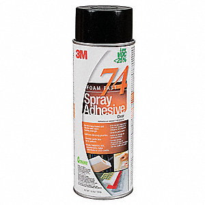 24 oz. Clear Low VOC Spray Adhesive with Temp. Range (F) of -30° to 200°