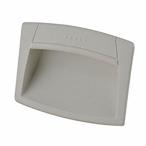 Recessed Pull Handle,Snap-In,Polyamide