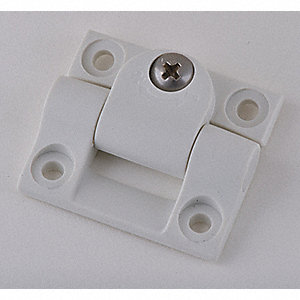 "Cleanroom Hinge, Nonremovable Pin Type, Height 35/64"", Width 1-7/16"""