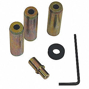 Siphon-Feed Steel Abrasive Blast Nozzle Kit for Blasting Gun, Includes 3 Nozzles, Airjet, Wrench