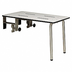 "26-1/2"" Adjustable Phenolic ADA Portable Tub Bench, White"