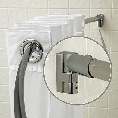 15E830 - Curved Shower Rod Satin 57In 9 Proj PK6