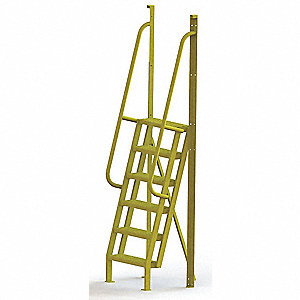 "Configurable Crossover Ladder, Steel, 60"" Platform Height, Number of Steps 6"