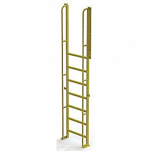 "Configurable Crossover Ladder, Steel, 80"" Platform Height, Number of Steps 8"