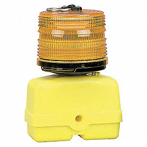 LIGHT FLASHING BATT PWR 12VDC AMBER