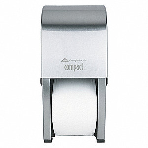 DISPENSER 2 ROLL COMPACT STAINLESS