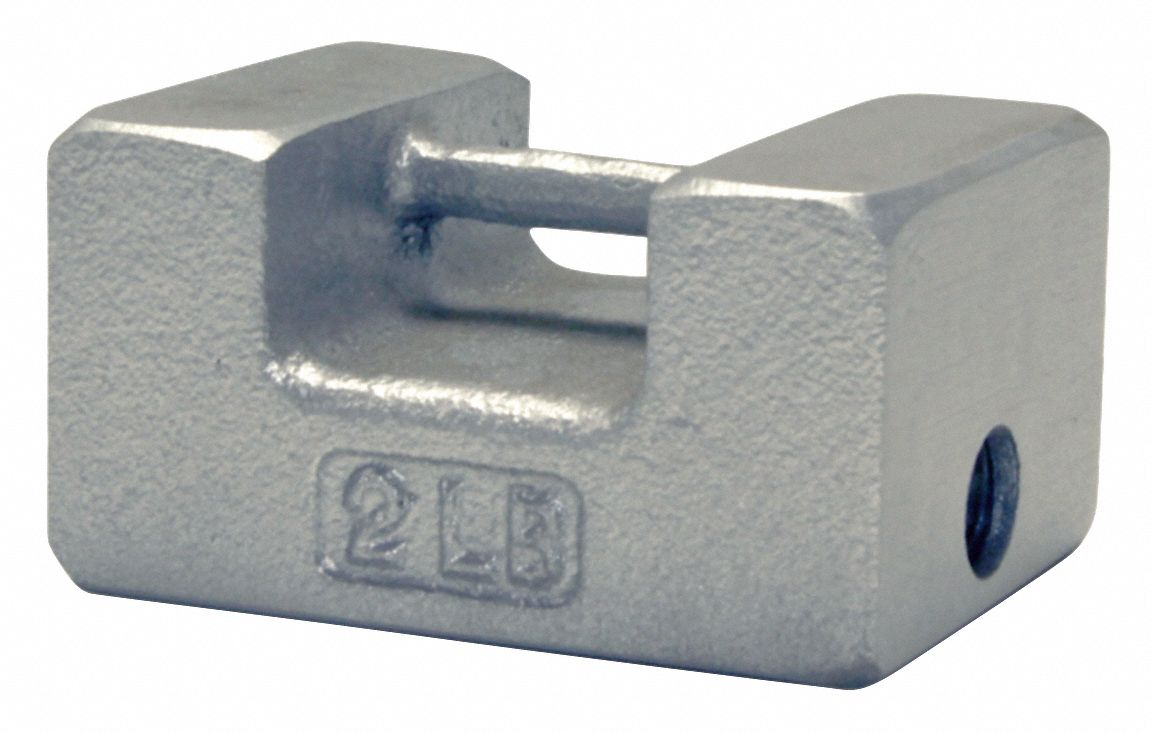 2 lb Calibration Weight, Grip Handle Style, Class 7, Traceable - Accredited, Cast Iron