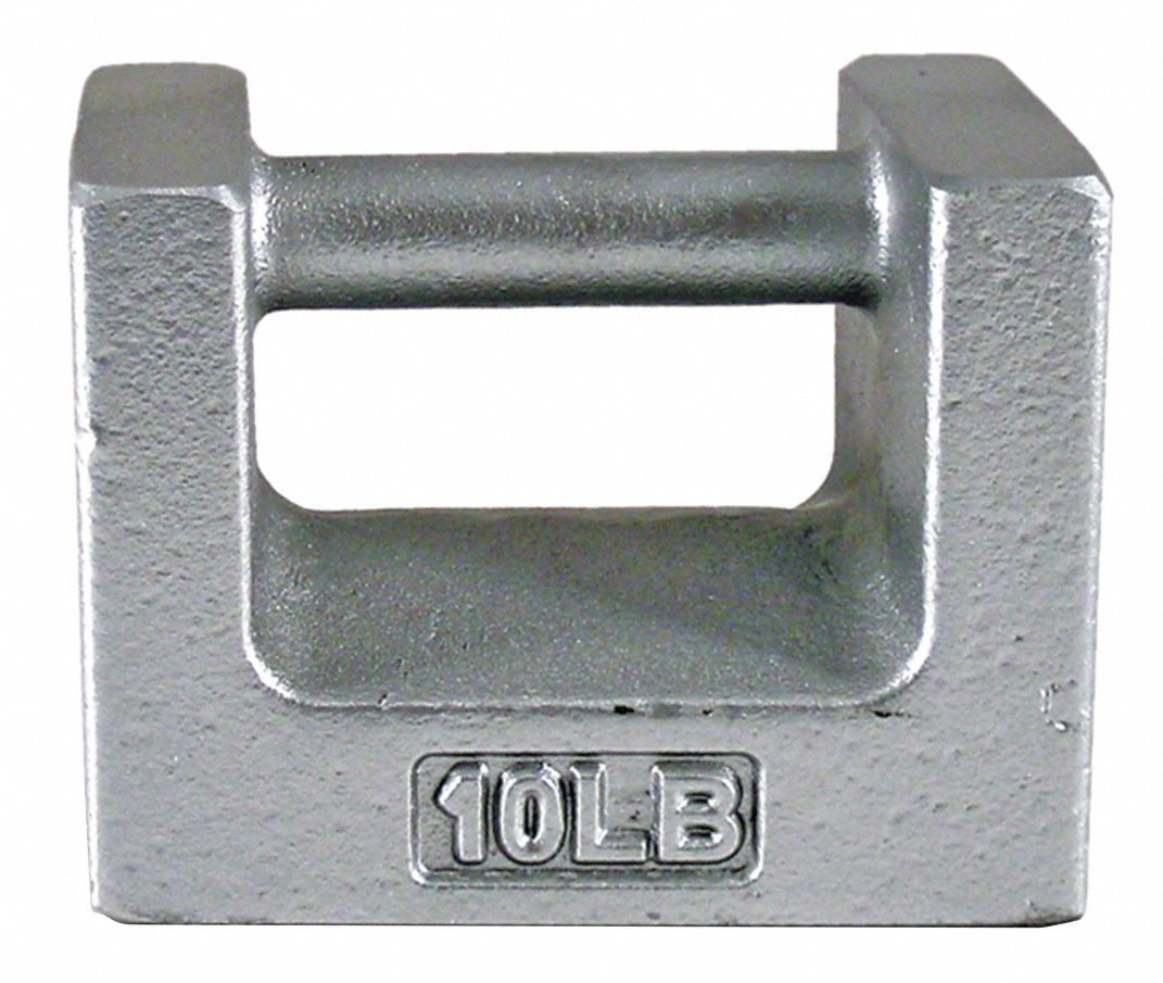 10 lb Calibration Weight, Grip Handle Style, Class 7, Traceable - Accredited, Cast Iron