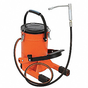 FOOT OPERATED GREASE PUMP, 22 LBS.