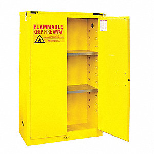"45 gal. Flammable Cabinet, 66-3/8"" x 43"" x 18"", Self-Closing Door Type"
