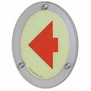 Notice Sign,6-1/4 x 4-3/4in.,RED/YLW-GRN