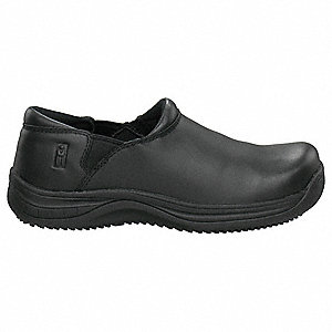 Women's Slip-On Shoes, Plain Toe Type, Black, Size 8-1/2