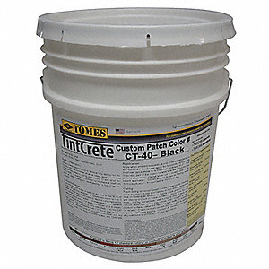Black Concrete Patch and Repair, 50 lb. Pail, Coverage: 12.5 sq. ft. @ 1/2""