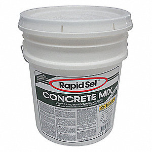 Gray Concrete Mix, 60 lb. Pail, Coverage: 3 sq. ft. @ 2""