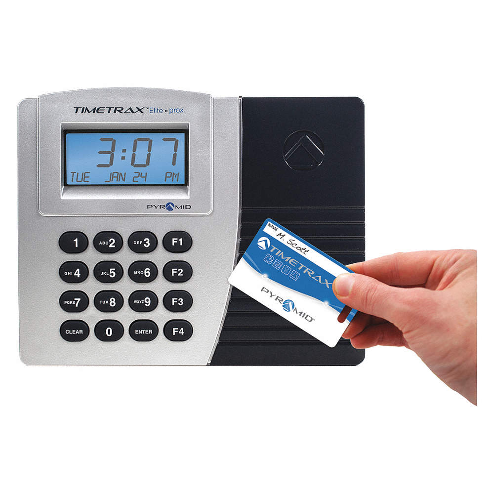 Surface, Wall-Mount Card Swipe Time Clock, 5-3/4
