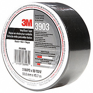 "2"" x 50 yd. Duct Tape, Black"