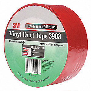 "50 yd. x 2"" Vinyl Duct Tape, Red"