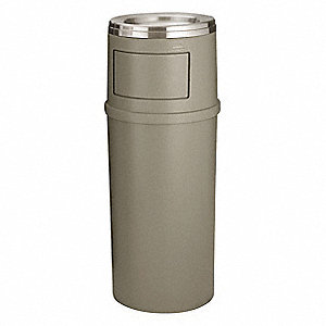 Ash/Trash Can,15 gal.,Tan