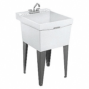 UTILITY SINK WITH LEGS AND FAUCET