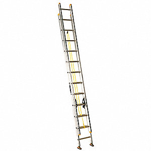Extension Ladder, Aluminum, I ANSI Type, 24 ft.