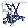 SCISSOR LIFT CART,1760 LB.,STEEL,FI