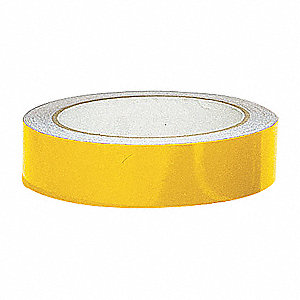 TAPE 1INX15FT YELLOW REFLECTIVE