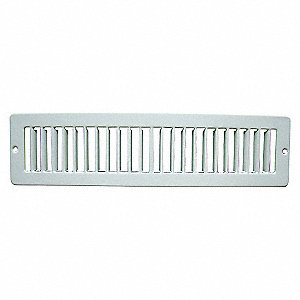TOE SPACE GRILLE,2X12,WHITE