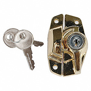 KEYED ALIKE SASH LOCK BRIGHT BRASS