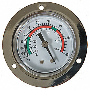 PANEL MOUNT THERMOMETER -40 TO 60 F