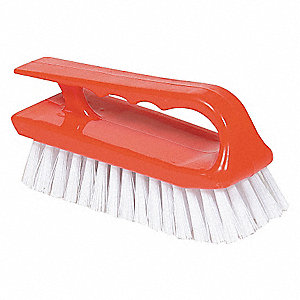 CURVED BLOCK PLASTIC BRUSH W/HANDLE