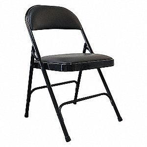STEEL CHAIR WITH VINYL PADDED