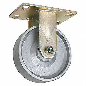 CASTER RIGID 6IN 1750LB SEMI-STEEL